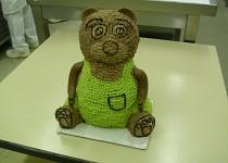 Medvídek - stříkaný krémem