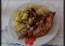Pečené kuře  se žampiony