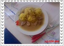 Pikantní vepřové s kari rýží