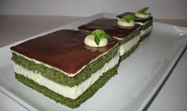 Piškot ze zeleného čaje Matcha (Matcha kasutera)