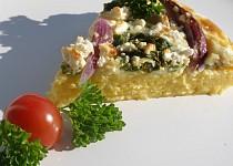 Polentový koláč s mangoldem a cibulí