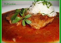 Vepřové maso na paprice a kmínu s libečkem
