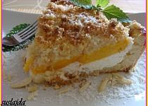 Broskvový koláč s kokosovo-mandlovým tvarohem