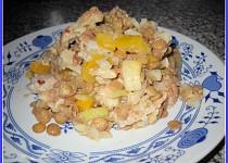 Čočkový salát s pečenáčem