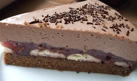 Čokoládovo-jahodový dort
