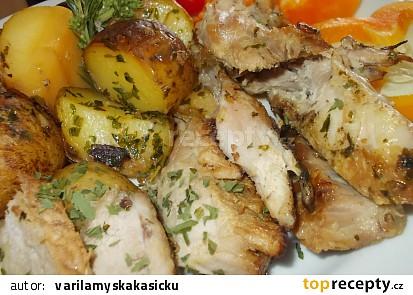 Dva v jednom / aneb - brambory s ocásky na jednom plechu /