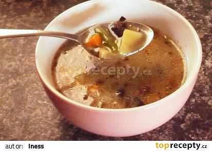 Houbová polévka se zeleninou