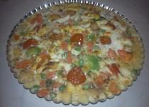 Polentový koláč se zeleninou