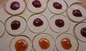 Tvarohové taštičky plněné marmeládou