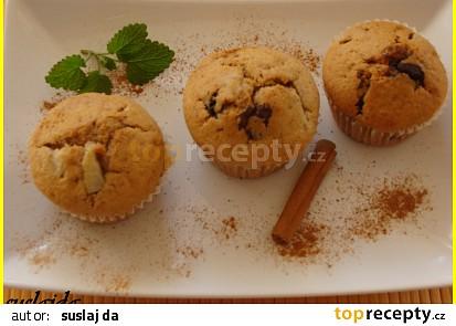 Čokoládovo-hruškové muffiny