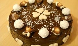 Čokoládový dort s rebarborou