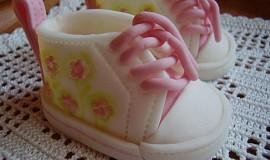 Marcipánové botičky se šablonou
