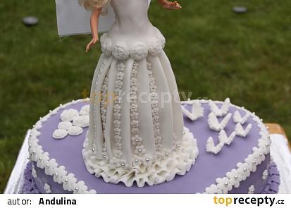 Nevěsta Barbie - dort k 6. narozeninám