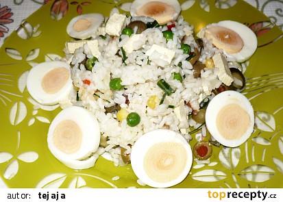 Rýžový zeleninový salát s tofu