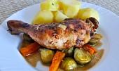 Selské kuře s kapustou (Poulet au Chou).