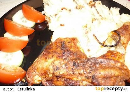 Es ツ Šťavnaté kuřátko s bramborovou kaší