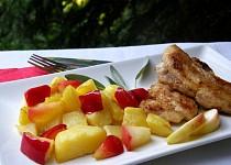 Štikozubec na šalvěji s bramborovo-jablečnou přílohou