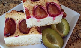 Tvarohový koláč s povidly