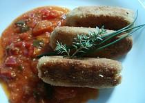 Vypečené krokety  ( s ostrou rajčatovou omáčkou )