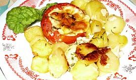 Zapečená rajčata s bramborami