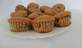 Banánovo-čokoládové muffiny - cupcaky