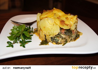 Gratinovaný mangold s bramborami