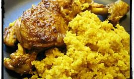 Kuřecí stehna s indickým kořením a s kuskusem