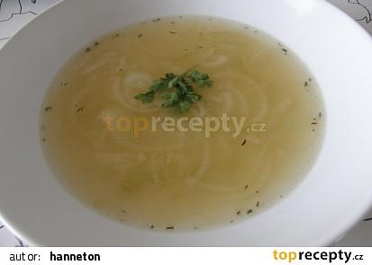 Jednoduchá cibulová polévka