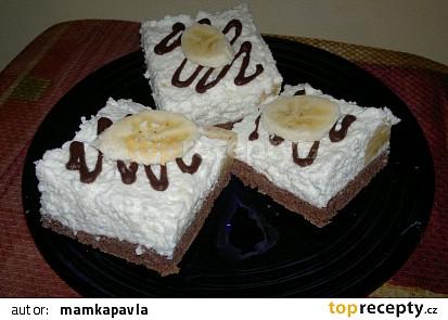Kokosové řezy s banánem