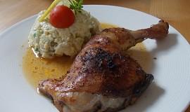 Lehký bramborový salát s kuřátkem ze sáčku