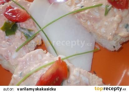 Ostřejší, kedlubnovo - vaječná pomazánka