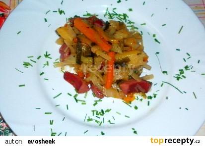 Párky se zelím (Polské jídlo)