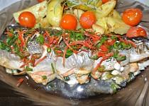 Pikantní losos s nádivkou