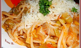 Pikantní špagety s hlívou ústřičnou