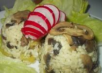 Houbovo - ředkvičkové rizoto s paprikami