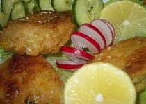 Pikantní rybí bochánky /burgry/ z uzené ryby