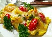 Selská omeleta s hráškem