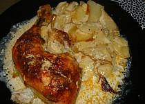 Smetanové kuřátko s brambůrkami