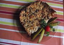 Šunkofleky s houbami a zeleninou