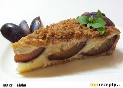 Svestkovy kolac s vanilkovym kremem a skorici