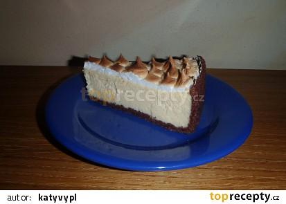 """Tvarohový """"cheesecake"""" se sněhovými pusinkami"""