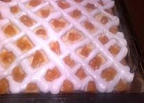 Tvarohový koláč sněhem zdobený (Rákocziho řezy)