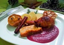 Adventni kure s marmeladou z cerveneho zeli