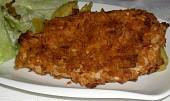 Kuřecí plátky obalované v chipsech