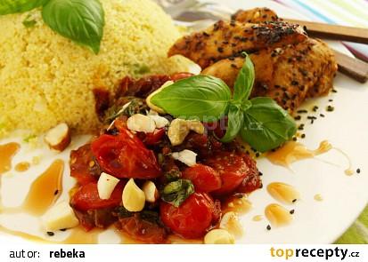 Kuskus s rajčaty a kuřecím