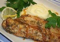 Rybička hoki v marinádě na bramborovo-celerovém pyré