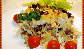 Směska s domácím uzeným masem a řapíkatým celerem