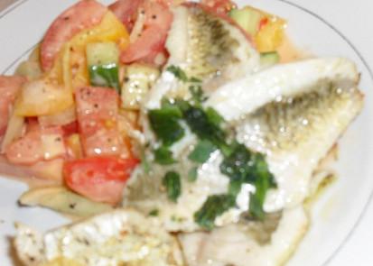 pečená bílá ryba