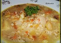 Syrovátková polévka se zeleninou a ovesnými vločkami
