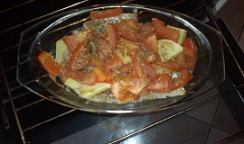 Zapečené filé s rajčaty